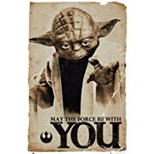 Póster de Star Wars Yoda May The Force Be With You–Póster de formato grande (61x 91,5cm)