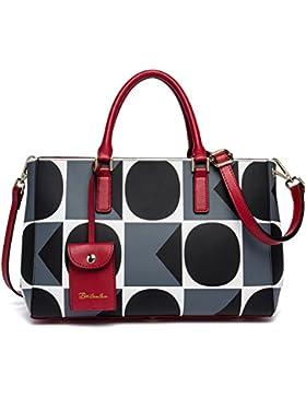 BOSTANTEN Damen Leder Umhängetasche Schultertasche Satchel Bag Elegant Tasche