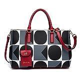 BOSTANTEN Damen Leder Handtasche Umhängetasche Schultertasche Tasche Tote Bag Grau