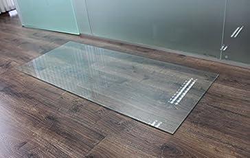 Saisonplatte Rechteck 130x70cm   Kamin Vorlegeplatte Funkenschutzplatte  Klarglas Kaminbodenplatte Glasplatte Kaminofenunterlage Ofenplatte  (Rechteck ...