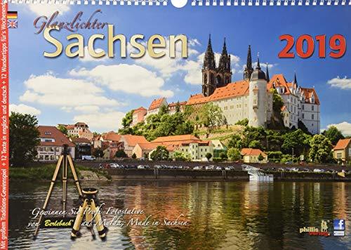 Glanzlichter Sachsen 2019: : mit Texten + Wandertipps für`s Wochenende + Gewinnspiel + Postkartenserie par Jörg Neubert