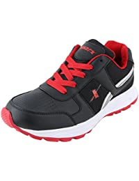 Sparx Men's SX0503G Series Black Red Synthetic Leather Sports Shoes