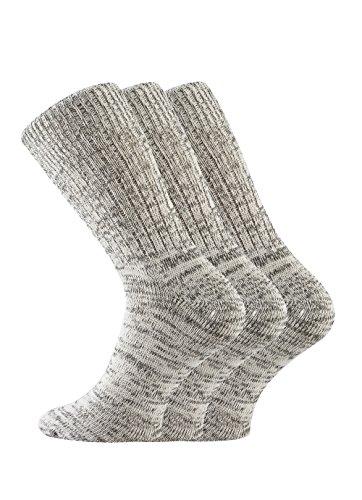 FussFreunde, 6 Paar TippTexx24 Original- Jeanssocken (Jeans-Socken) für Damen und Herren (43-46, jeansmelange) (Herren-jeans-tag)
