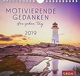 Motivierende Gedanken für jeden Tag 2019: Dekorativer Wandkalender mit Monatskalendarium   Maße (BxH): 21x20cm