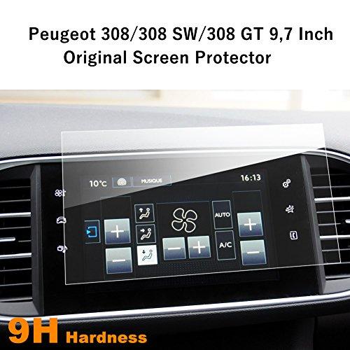 LFOTPP Navigation Protection d'écran pour Peugeot 308/308 SW/308 GT 9,7 pouces Système de Navigation Film Protection en Verre Trempé - 9H Anti-rayures