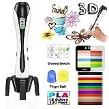 3D Stifte, für Kinder mit PLA Filament 12 Farben -【Neueste Version 2018】Lovebay 3D Stifte Set mit PLA Farben 120 Fuß, 3d pen Starter Set als kreatives Geschenk für Erwachsene, Bastler zu kritzeleien, basteln, malen und 3D drücken