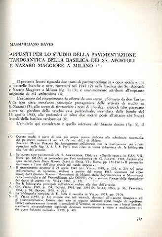 Appunti per lo studio della pavimentazione tardo-antica della basilica dei SS. Apostoli e Nazaro Maggiore a Milano.