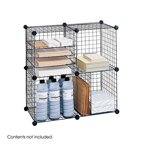 Safco Draht Cube Merchandising Einheit, Farbe: Schwarz (Wire-cube-regale)