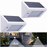 Uniquefire 20 LED Solar Motion Sensor Lights Waterproof Solar Energy Powered Security Light Outdoor Bright Light Wall Lamp for Garden, Outdoor, Fence, Patio, Deck, Yard, Home, Driveway, Stairs, Outside Wall (Pack of 2)