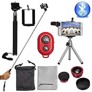 XCSOURCE® Kit de Téléphone Caméra Super Manfrotto Objectif Sans Fil Contrôle Trépied Pour Smartphone iPhone 4s 5 5c 5s 6 6 Plus , Samsung Galaxy S2 i9100 S3 i9300 S4 i9500 S5 i9600 DC541