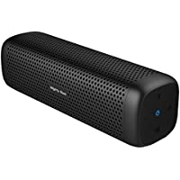 Mighty Rock 6110 Altavoces Bluetooth Altavoz inalámbrico portátil con 16W Rich Deep Bass, 12 horas de tiempo de juego y Strong Shell de aleación de aluminio TF (Negro)