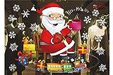 Comfot Weihnachts-Elektrostatische Glas Aufkleber Niedlich Santa Claus Abnehmbare Fröhliche Weihnachts-Showshop-Fenster Dekor Aufkleber Weihnachtstage Dekorationen Ornament