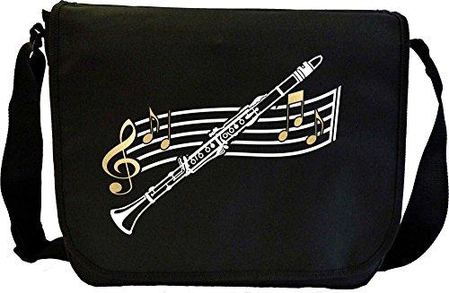 Clarinet Curved Stave - Sheet Music Document Bag Musik Notentasche MusicaliTee