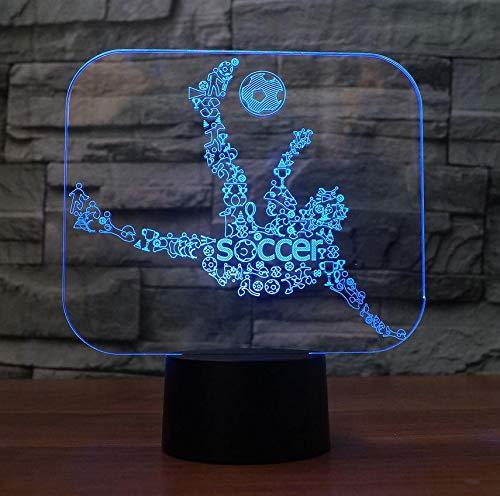 Spielen Fußball 3D Led Nachtlicht 7 Farbwechsel Led Usb Schreibtisch Tischlampe 3D Illusion Baby Schlaf Beleuchtung Fußball Fans Beste Geschenk