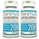 lot de 2 Intens'hyal (ex. Dermocaress) Acide hyaluronique 200 mg - 60 capsules LT labo