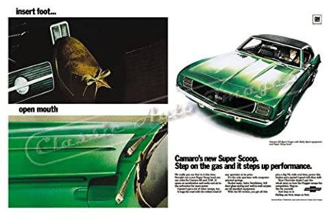 Classic and Muscle Car Ads and Car Art 1969 Chevrolet