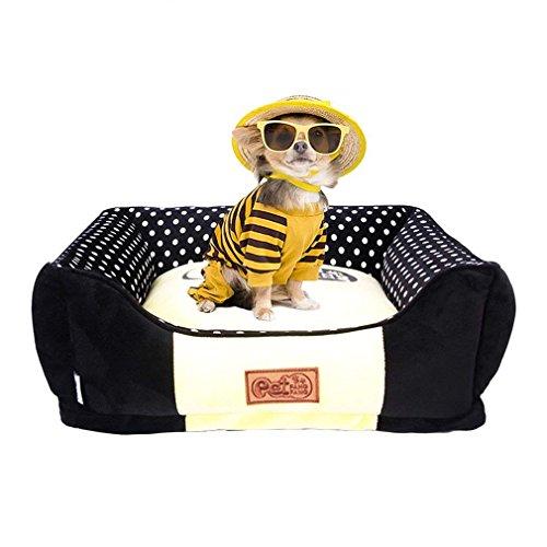 Keraiz Pets Bett Plüsch Warm Hund Haus Abnehmbare PP Baumwolle Warm, Gemütlich Katze Hund Schlafplatz. (Weiche Wärme-matratze-auflage)