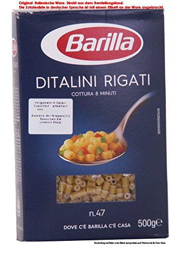 Barilla Ditalini Rigati No 47 Teigwaren aus Hartweizengrieß 11 x 500g = 5500g