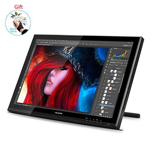 Huion Pen Display für Profis Grafikmonitor 2048 Stufen Druckempfindlichkeit 5080 LPI- Grafiktablett...