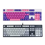 Faway 104 Key DSA Profile PBT Blank Keycaps Key Caps Set for Mechanical Keyboard-Purple Pink