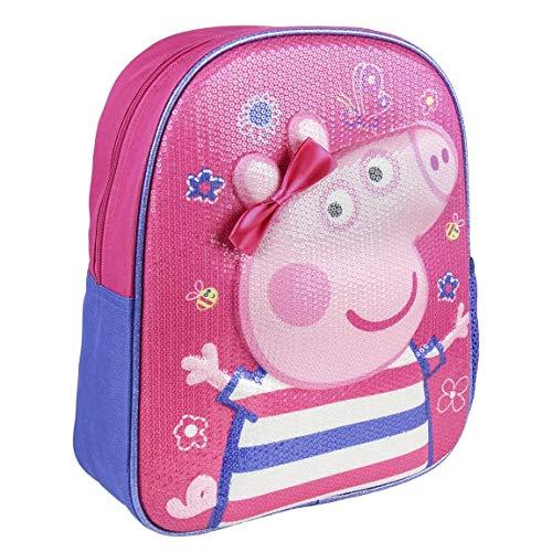 Artesania Cerda Mochila Infantil 3D Peppa Pig, Niñas, Rosa (Rosa), 10x31x25 cm (W x H x L)