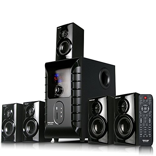 Truvison SE-6055BT 5.1 Multimedia Speaker System with Bluetooth USB FM MMC Playback Support Feature Superior Sound Clarity