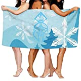 NFHRRE Women's Cottton Handsome And Brave Spartan Warrior Bath Shower Wrap Towels