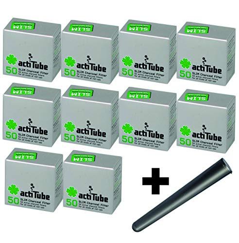 actiTube Slim Aktivkohlefilter 7,1m Plus gratis J.Hülle von Kogu (10x50 (500)) -