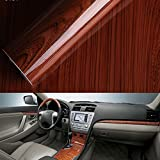 [Hoho] brillant Vinyle Adhésif Wood Grain texturé de voiture Wrap de voiture Interne Stickers Wood Grain Contact Housse de table papier autocollant 124 cm*50 cm