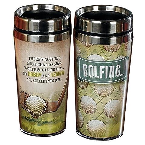 Golfing Travel Tumbler