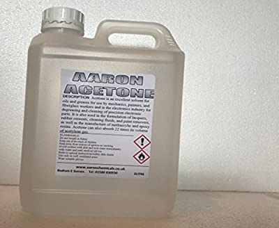 Aaron Acetone 2000ml (pure acetone cleaner) PARCELFORCE CHEMICAL REGULATED COURIER DELIVERY delivered safely to your door