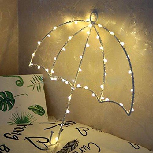 DANQI High Quality Dekoratives Licht 40 LEDs DIY Regenschirm-warmes weißes Licht LED dekoratives Licht Schnur-Licht mit Haken for Party, Raum, Fenster Mode Home Improvement