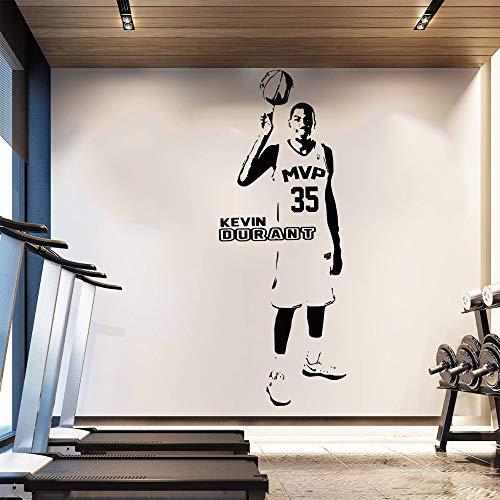 jiushizq Wallpaper Rimovibile Basket Wall Sticker Home Decor Poster Warriors Star Oklahoma City Thunder Bianco 57x150cm