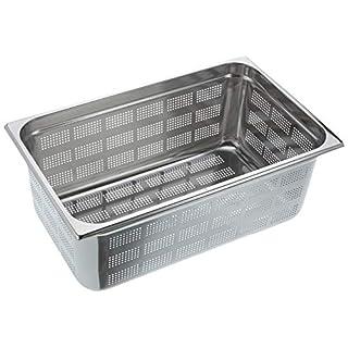 Decora 1/1Edelstahl perforiert Tisch Pfanne, Silber, 53x 32x 20cm
