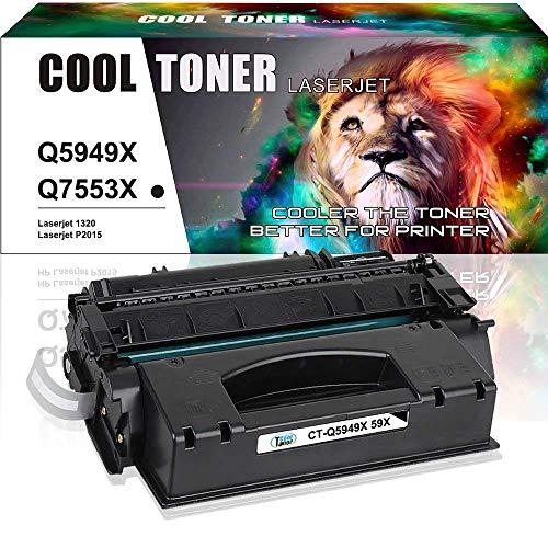 Cool Toner Kompatibel Toner Cartridge Replacement für Toner HP Q5949X 49X für HP Laserjet 1320 1320N 1320TN 1320NW 3390 3392, Canon LBP3300 Drucker, 1 Schwarz, 7000 Seiten