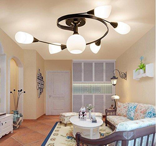 American country living room, lampadario di ferro, atmosfera nordica lampadario, semplice lampadario, pastorale luci di camera da letto in stile europeo luci ristorante
