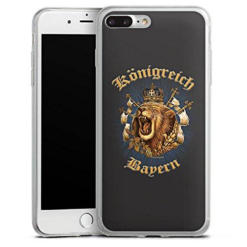 Apple iPhone 8 Slim Case Silikon Hülle Schutzhülle Königreich Bayern Löwe München Silikon Slim Case transparent