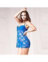 DFHHG® Ropa interior divertida, XL pijama sexy diversión de encaje Lencería sexy ( Color : Azul , Tamaño : XL )