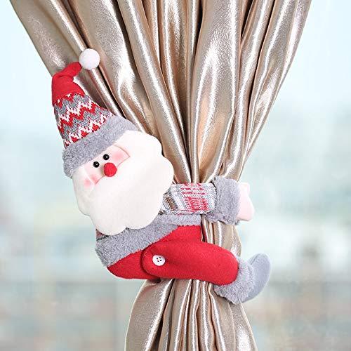Vorhang Raffhalter Weihnachten Deko Fensterdekoration Vorhang Clips Seil Rückwärtige Vorhang Binder Halter Stoffpuppe für Fenster Weihnachtspuppen Spielzeug Festival Dekoration Christmas (A) (Story Book Kostüm Kinder)
