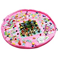 ma-on 1,5m diámetro bebé Kids Play Floor Mat juguete bolsa de almacenamiento organizador (rosa)