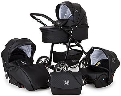 Lux4Kids Kinderwagen 3in1 Set Buggy Autositz Babywanne VIP Luxus Made in EU Easy One