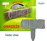 Cordolo bordura da giardino di plastica resistente 2,5 m colore: marrone scuro