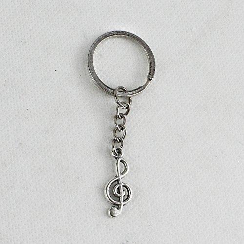 Dlm26739 (kit 12 pezzi) portachiavi ciondolo in metallo chiave di violino sol musica confettata segnaposto bomboniera