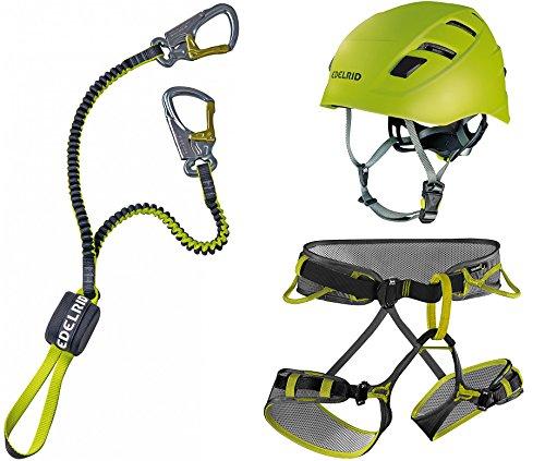 Preisvergleich Produktbild EDELRID Klettersteigset Cable Kit Lite 5.0 + Gurt Jay III Größe L + Kletter-Helm