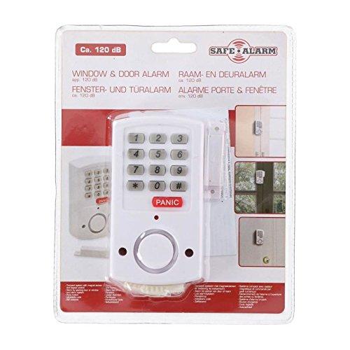 SAFE ALARM Détecteur d'ouverture porte et fenetre - Avec bouton Panic