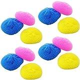 COM-FOUR 12er Set Topfreiniger Plastik Scheuerpads in verschiedenen Farben