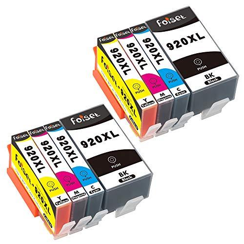 Foiset 920XL Ersatz für HP 920 920 XL Tintenpatronen mit Hoher Kapazität Kompatibel mit HP Officejet 6000 6500A 6500 6000 7000 7500A 7500 Drucker (2 Schwarz, 2 Cyan, 2 Magenta, 2 Gelb) -