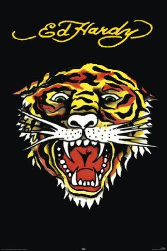Ed Hardy Tiger Black - Große PAPIER Poster - Größe 91.5 x 61 cm (ca.) (Tiger Black Ed Hardy)