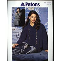 1c20980cb5835 PATONS 5216 knitting pattern CHENILLE RAGLAN SWEATERS (30-40in)