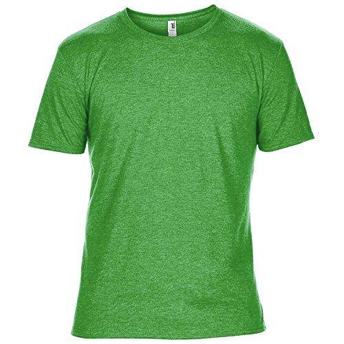 Anvil Herren Tri-Blend T-Shirt mit Rundhalsausschnitt, Kurzarm Grün Meliert